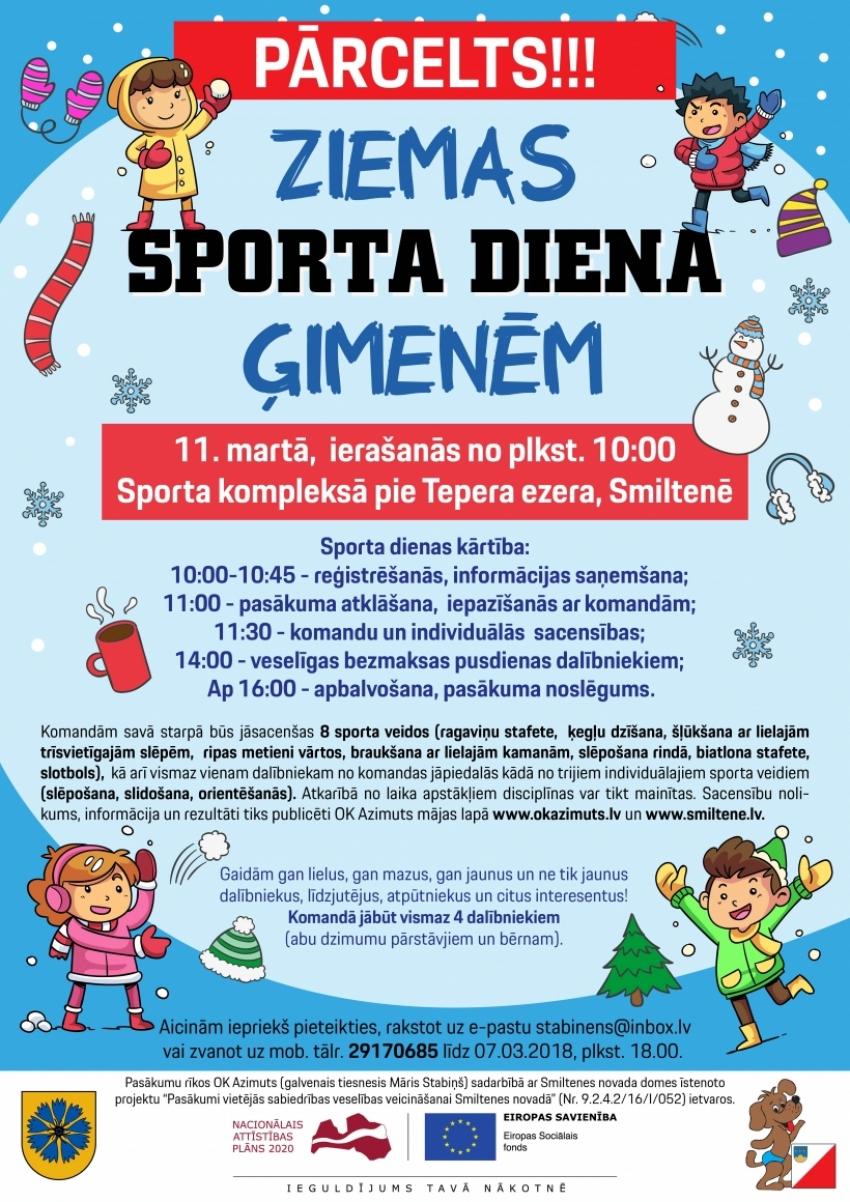 Smiltenes novada ģimeņu ziemas sporta diena 2018